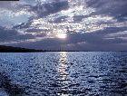 Иссык-Куль: закат на озере