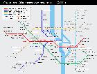 Киев: Схема линий Киевского метрополитена, 2011 год