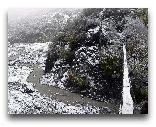 Лагич: Подвесной мост в ущелье