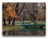 Нарва-Йыесуу: Мостик через пруд в парке