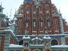 Рига: Дом Черноголовых зимой