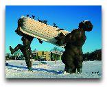 Остров Сааремаа: Скульптура у отеля Мери