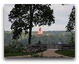 Сигулда: Вид на Турайду с площадки Сигулдского замка
