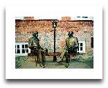 Тарту: Скульптура Оскар Уайльд и Эдуард Вильде