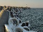 Вентспилс: Пирс зимой