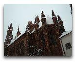 Вильнюс: Костел Святой Анны зимой