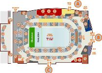 Тур на концерт группы Rammstein: план зала