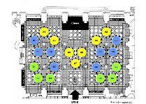 Новый год в Риге: План зала программы Ночь в музее